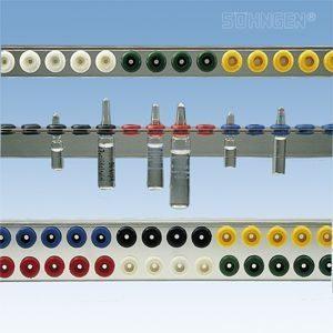 Ampullenrail voor 16 ampullen (enkele rail)