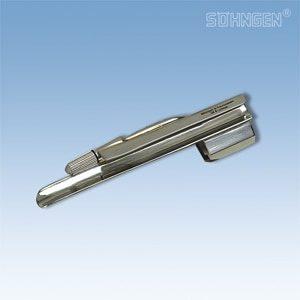 Laryngoscoop metaal, warm licht - Baby-Miller blad fijn - Maat 1
