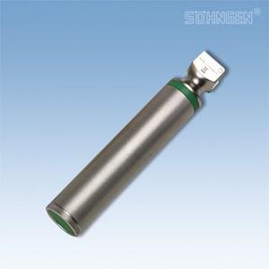 Laryngoscoop metaal, koud licht - handvat, met batterijen