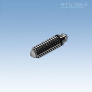 Laryngoscoop metaal, warm licht - reserve lampje voor blad - Maat 0-1