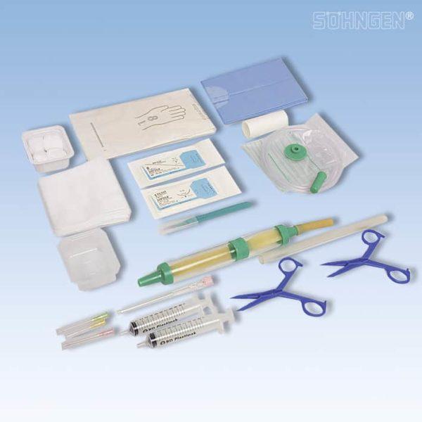 Set voor thoraxdrainage (Ch 20)