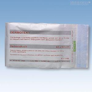 DERMOTEKT verbanddoek - 40 cm x 60 cm - per stuk 20 jaar steriel