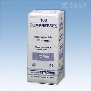 Gaaskompressen - 5 x 5 cm - per 100 verpakt (niet steriel)