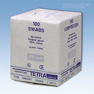 Gaaskompressen - 10 x 10 cm - per 100 verpakt (niet steriel)
