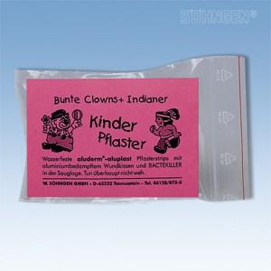 Set met 12 kinderpleisters (clown & indiaan)