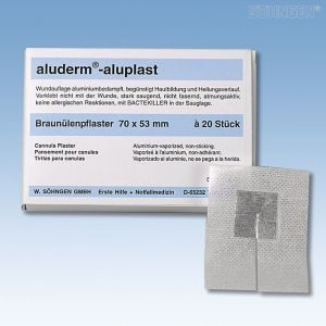 Aluplast infuuspleister - 20 stuks in een kartonnen doosje 70x53mm