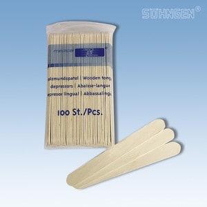 Tongspatels hout (per 100 stuks)