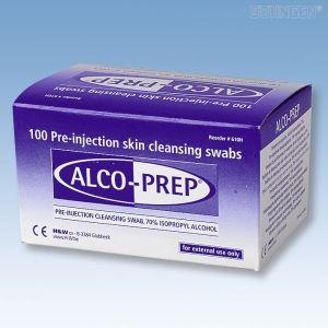 Alco-Prep, alcoholische ontsmettingsdoekjes, doosje van 100