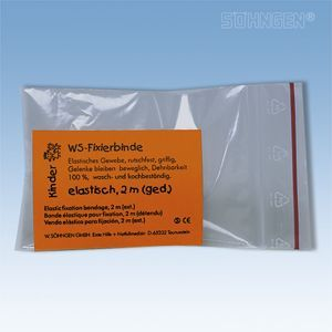 WS Kinder fixatie gaaszwachtel, elastisch - 2 m (ext.) x 4 cm