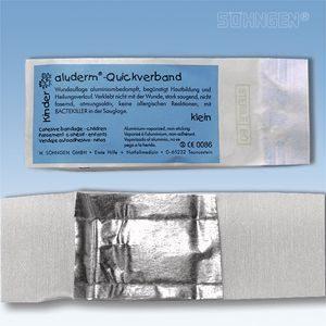 Aluderm cohesieve verbandpakje - Kinder-Quickverband 4 x 6 cm 20 jaar steriel