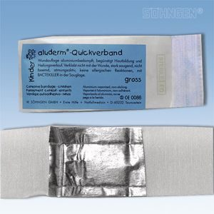 Aluderm cohesieve verbandpakje - Kinder-Quickverband 6 x 6 cm 20 jaar steriel