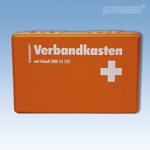 Verbandkoffer KIEL met vulling norm DIN 13157 oranje