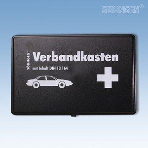 Verbandkoffertje kunststof DIN 13 164 zwart