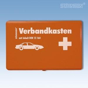 Verbandkoffertje kunststof DIN 13 164 oranje
