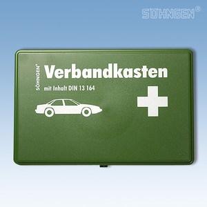Verbandkoffertje kunststof DIN 13 164 groen