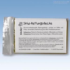 Sirius aluminium reddingsdeken voor kinderen (160x120cm)