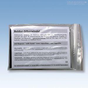 Zilverkleurig Baldur wikkeldeken - Single pack met kap