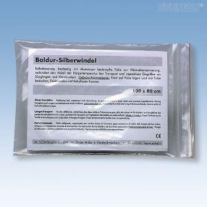 Zilverkleurig Baldur wikkeldeken - Single pack 1 m x 80 cm