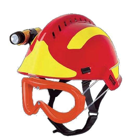 Helm F2 Xtrem met optie bril en lamp