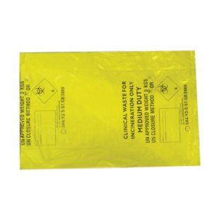 Gele vuilzakken (pak van 100)