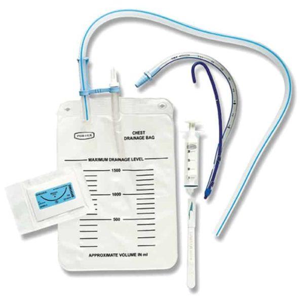 Portex Emergency Chest Drain Kit (thoraxdrainage voor prehospitaal gebruik)