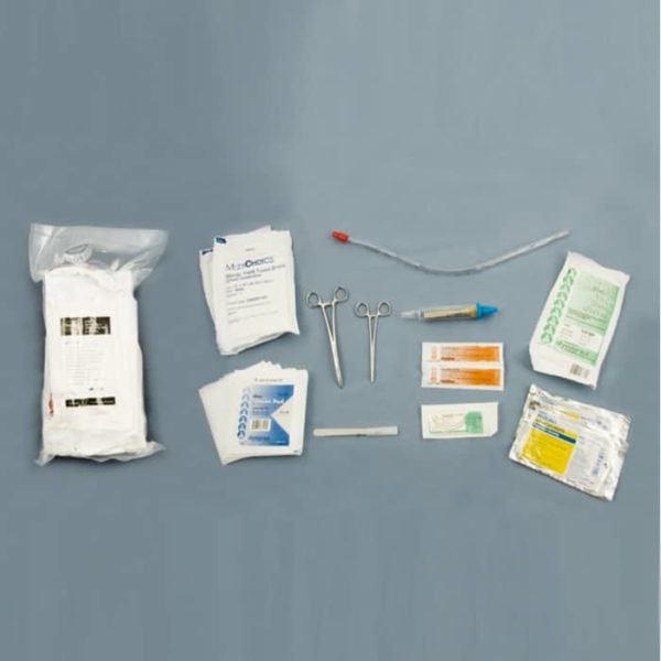Set voor prehospitaal thoraxdrainage