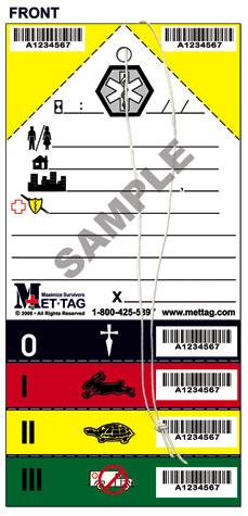 Triagekaart Mettag (pak van 50)