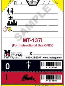 Triagekaart Mettag voor oefeningen