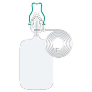 Zuurstofmasker met reservoir non rebreathing voor kinderen (doos van 50)