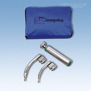 Laryngoscoop metaal, koud licht, SET