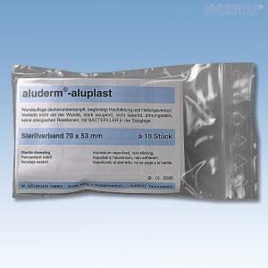 Aluplast steriel verband 70 x 53mm - 10 stuks